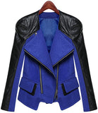 SALE!  Hot Royal Blue Moto Biker Jacket