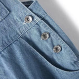SALE!  Overall Shortalls - Distressed Light Denim