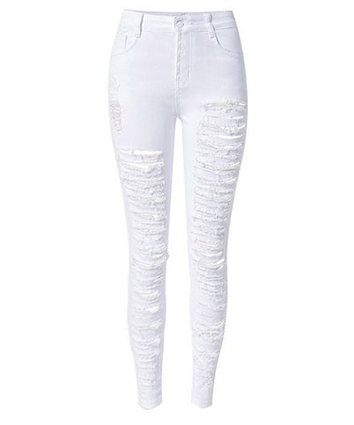 SALE!  New White Destroyed Skinny Jeans