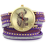 SALE!  Elephant Rivet Bracelet Braided Winding Wrap Watch - Multiple Colors!