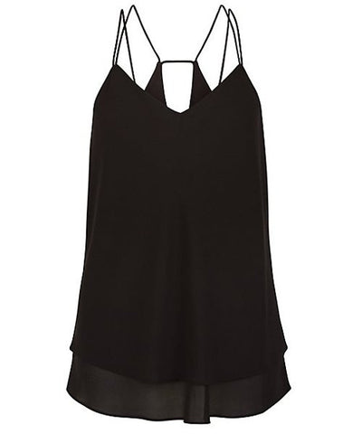 SALE!  Sexy Strappy Floaty Ruffled Solid Color Tank Top - Limited Quantities