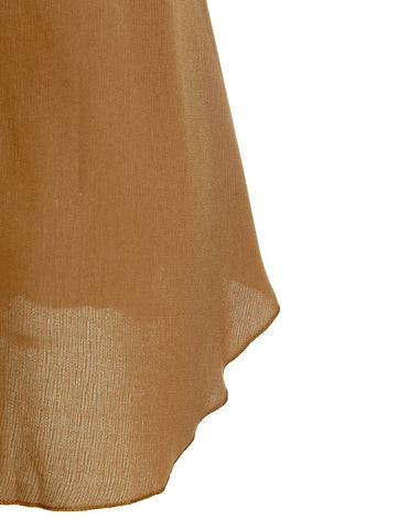 SALE!  Camel Color Strappy Chiffon Assymetrical Style Tank Top