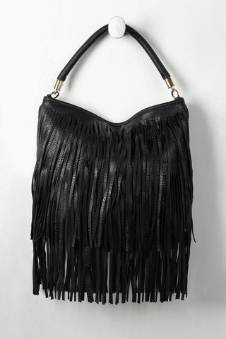 Single Handle Fringe Bag
