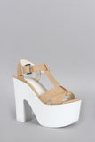 Speed Limit 98 Summer Chunky Platform Heel