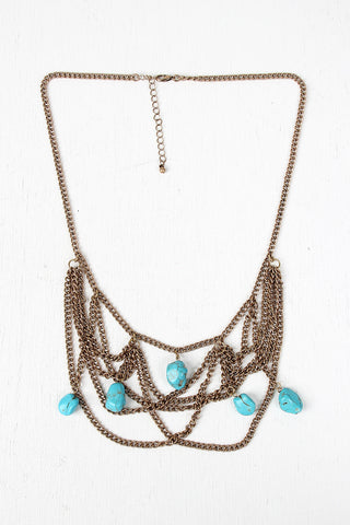 Antique Stones Tiered Statement Necklace