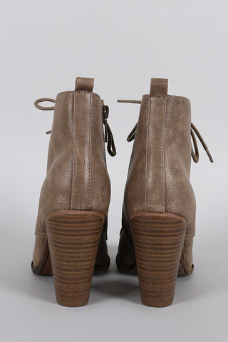 Breckelle Combat Stacked Booties