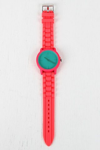 Two Tone Rubber Watch