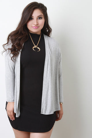Solid Jersey Cardigan