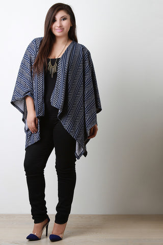Tribal Open Front Poncho