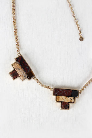 Colorblock Pendant Necklace