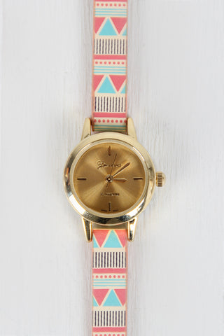 Geo Pattern Skinny Watch