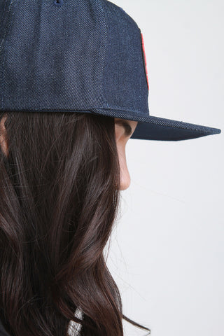 Denim California Republic Patch Snapback Cap