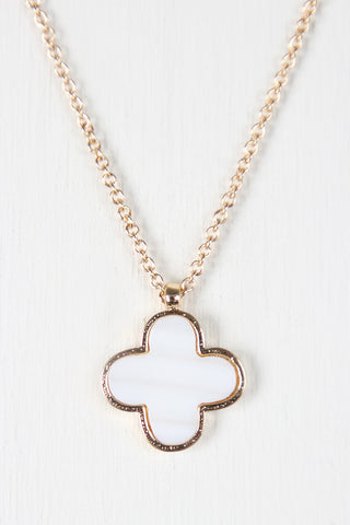 Simple Clover Charm Necklace