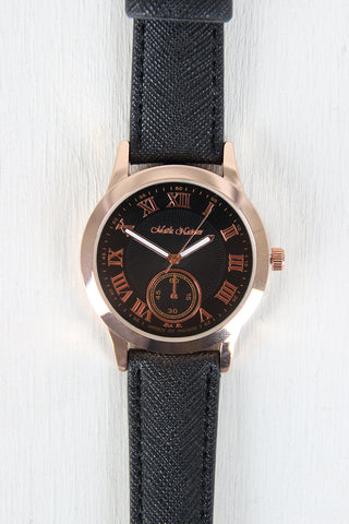Classic Vegan Leather Band Watch