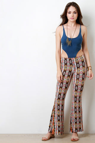 Floral Bohemian Bell Bottom Pants