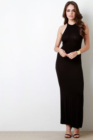 Solid Jersey Sleeveless Bodycon Dress