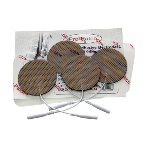 "Round Tan Cloth Electrodes - 2"" by ProMed - ProM-024"