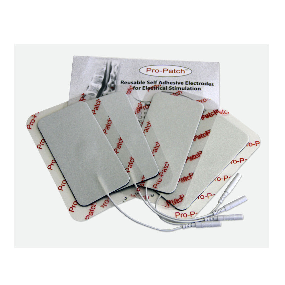 "White Foam Backed Electrodes - 2""x4"" by ProMed - ProM-030"
