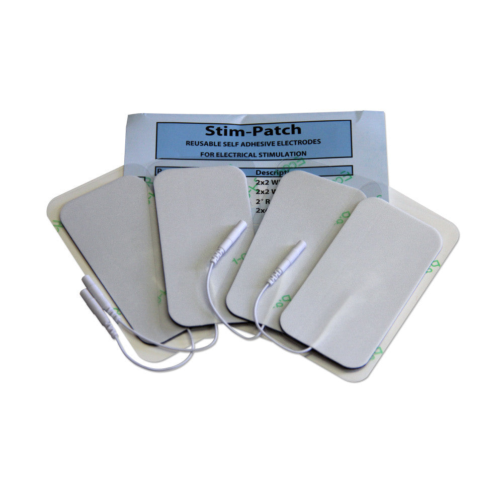 "White Foam Electrodes - 2""x4"" by StimPatch - Stim-030"