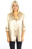Gold Satin Shirt