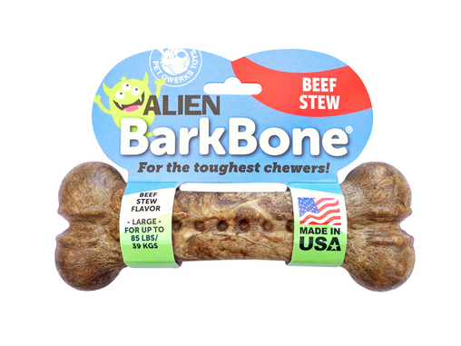 Pet Qwerks Alien BarkBone® Beef Stew Flavor-Infused Dog Chew Toys - Pet Qwerks | Interactive Pet Toys