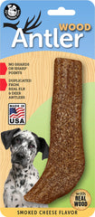 Smoked Cheese Flavored Antler Wood Dog Chew Toys, Made in USA - Pet Qwerks | Interactive Pet Toys