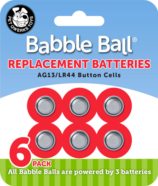 Babble Ball Replacement Batteries - Pet Qwerks | Interactive Pet Toys