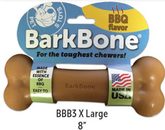 BBQ BarkBone® Dog Chew Toy, Made in USA - Pet Qwerks | Interactive Dog Toys