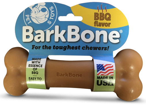 BBQ BarkBone® Dog Chew Toy, Made in USA - Pet Qwerks | Interactive Pet Toys