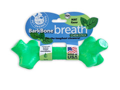BarkBone Breath Chew Stick with Mint Flavor Dog Chew Toy for Aggressive Chewers, Made in USA - Pet Qwerks | Interactive Dog Toys