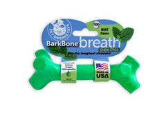 BarkBone Breath Chew Stick with Mint Flavor Dog Chew Toy for Aggressive Chewers, Made in USA - Pet Qwerks | Interactive Pet Toys