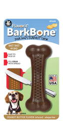 Flavorit® BarkBone™ Peanut Butter Flavor Dog Chew Toy, Made in USA - Pet Qwerks | Interactive Dog Toys