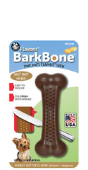 Flavorit BarkBone Peanut Butter Flavor Dog Chew Toy, Made in USA - Pet Qwerks | Interactive Dog Toys