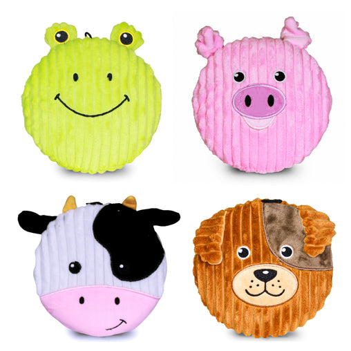 Pet Qwerks Big Squeaker Emoji Plush Dog Toy - Frog, Dog, Cow and Pig (Each Emoji Sold Separately) - Pet Qwerks | Interactive Dog Toys