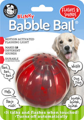 Blinky Babble Ball Interactive Dog Toy, Flashes and Talks when Touched! - Pet Qwerks | Interactive Pet Toys