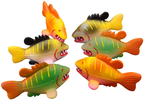 Squeeky Latex Dog Toy - Angry Fish
