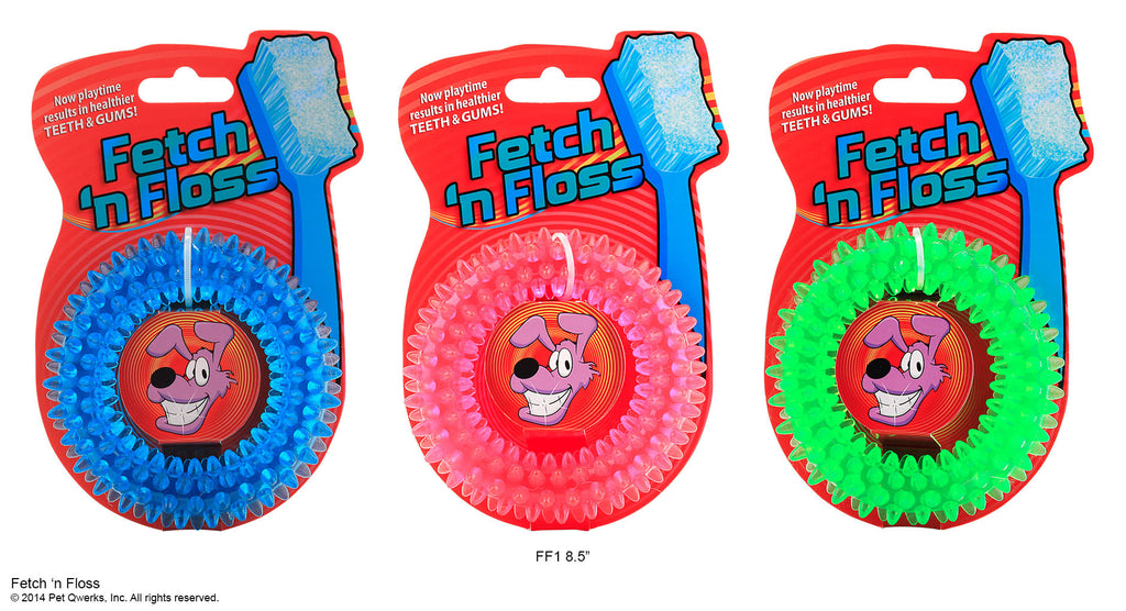Fetch N Floss Ring - Pet Qwerks | Interactive Dog Toys