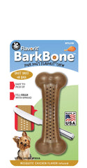 Flavorit BarkBone Mesquite Chicken Dog Chew Toy, Made in USA - Pet Qwerks | Interactive Dog Toys