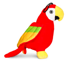 Pet Qwerks Chattering Parrot with Electronic Sounds Plush Dog Toy - Pet Qwerks | Interactive Dog Toys