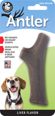 Liver Flavored Nylon Antler Dog Chew Toys, Made in USA - Pet Qwerks | Interactive Pet Toys