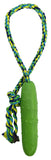 Pickle Fetch Tug 'n Toss Squeaky Dog Toy with Attached Knotted Rope