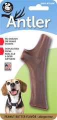 Nylon Antler Dog Chew Toy - PEANUT BUTTER Flavor Infused