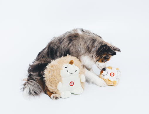 Plush Hedgehog with Cute Electronic Chattering Sounds Dog Toy - Pet Qwerks | Interactive Pet Toys