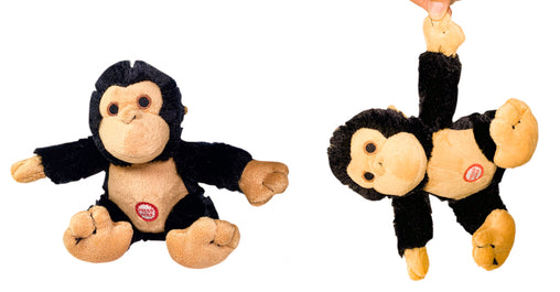 Pet Qwerks Yipping Monkey with Electronic Sound Animal Stuffed Plush Dog Toy - Pet Qwerks | Interactive Dog Toys