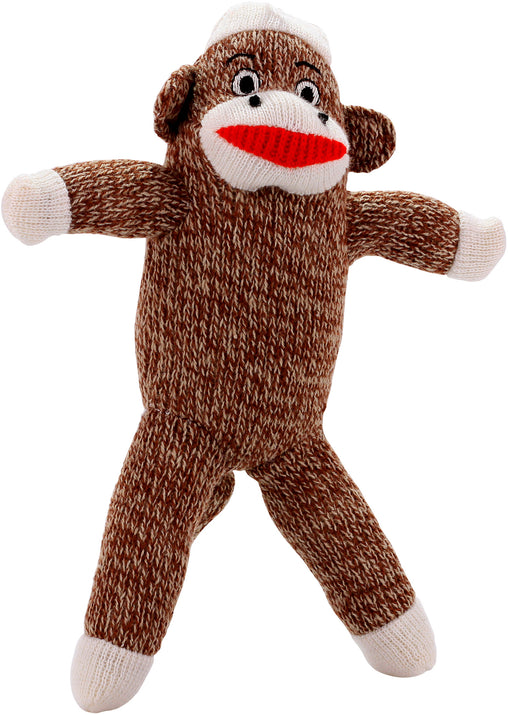 Plush Sock Monkey Dog Toy - Pet Qwerks | Interactive Dog Toys