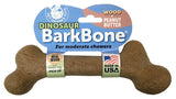 Dinosaur BarkBone Wood with Peanut Butter Flavor Dog Chew Toy, Made in USA