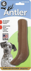 Nylon Antler Dog Chew Toy - PEANUT BUTTER Flavor Infused - Pet Qwerks | Interactive Dog Toys