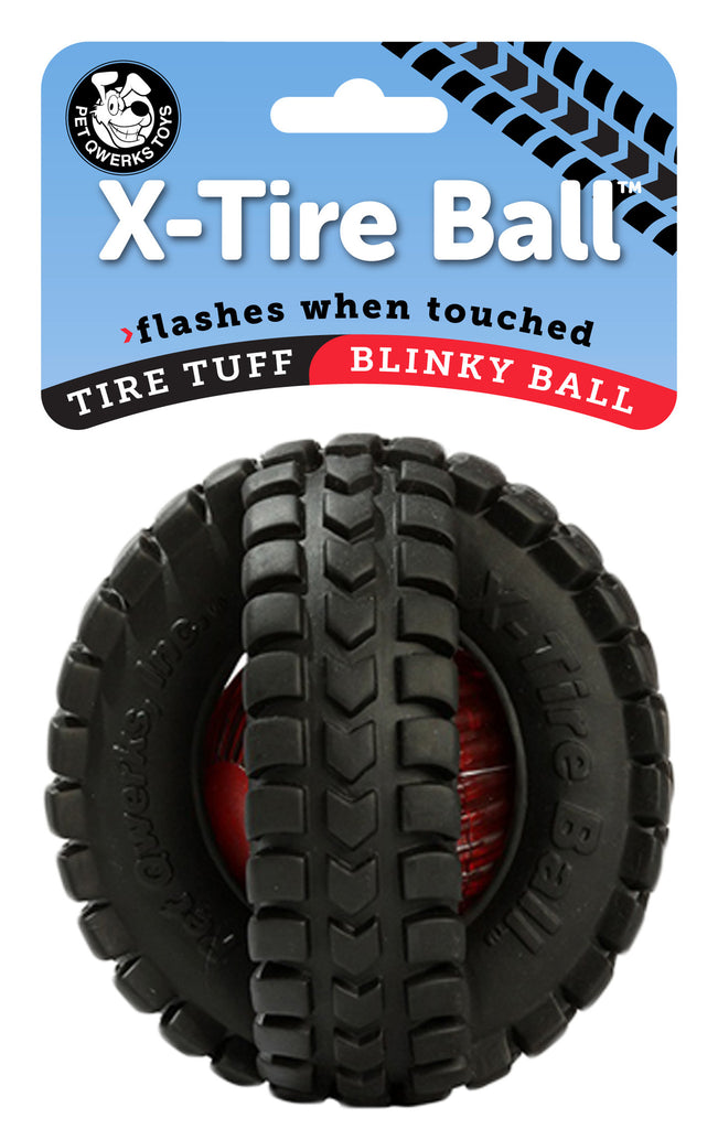 Blinky X-Tire Ball (Large) - Pet Qwerks | Interactive Dog Toys