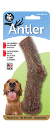 Nylon Antler Dog Chew Toy - PEANUT BUTTER Flavor Infused (LARGE) - a dogs toy