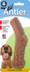Chicken Flavored Nylon Antler Dog Chew Toys, Made in USA - Pet Qwerks | Interactive Dog Toys